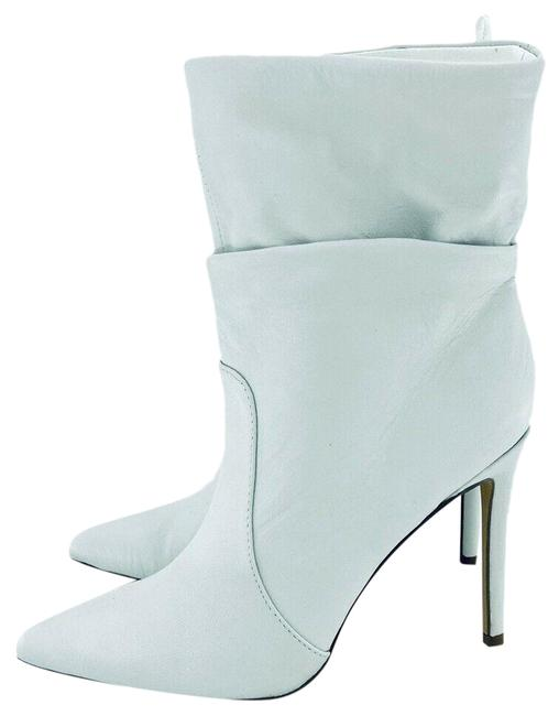 Item - White Monarch Leather Mid Calf Boots/Booties Size US 7.5 Regular (M, B)