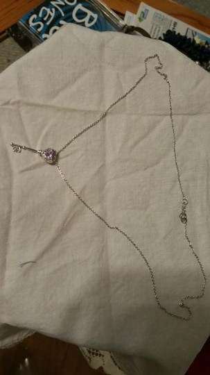 Other Amethyst and Diamond Key necklace