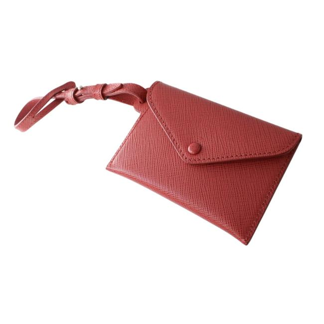 Item - Red Saffiano Leather Envelope Luggage Tag Keychain 1en022