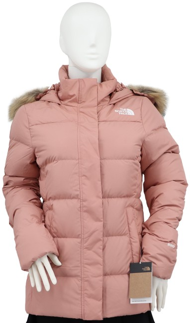 Item - Pink Small Women's Gotham Faux Fur Trim Quilted Down Jacket Coat Size 6 (S)