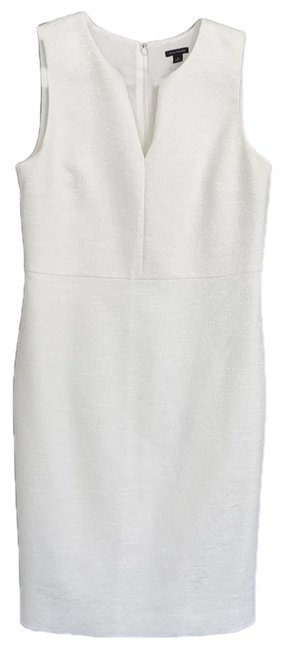 Item - Off White Mid-length Work/Office Dress Size 8 (M)