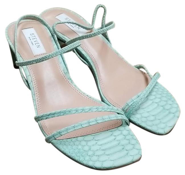 Item - Green York Owens Barely-there Strappy Dress Sandals Size US 8 Regular (M, B)
