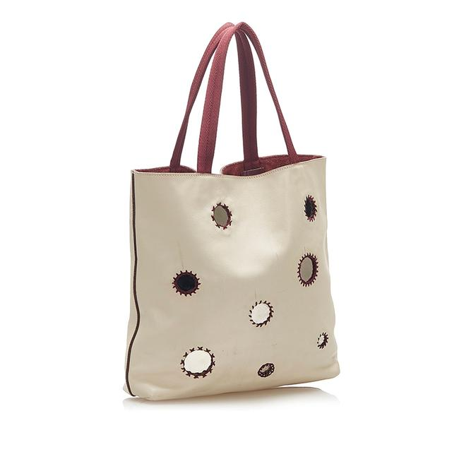 Item - Bag Mirror Silver Leather Tote