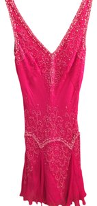 Basix II Embellished Pink Junior Prom Prom Fun Young Flirty Dress