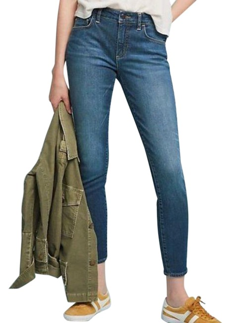 Item - Blue Medium Wash Anthro Pilcro Cropped Skinny Jeans Size 28 (4, S)