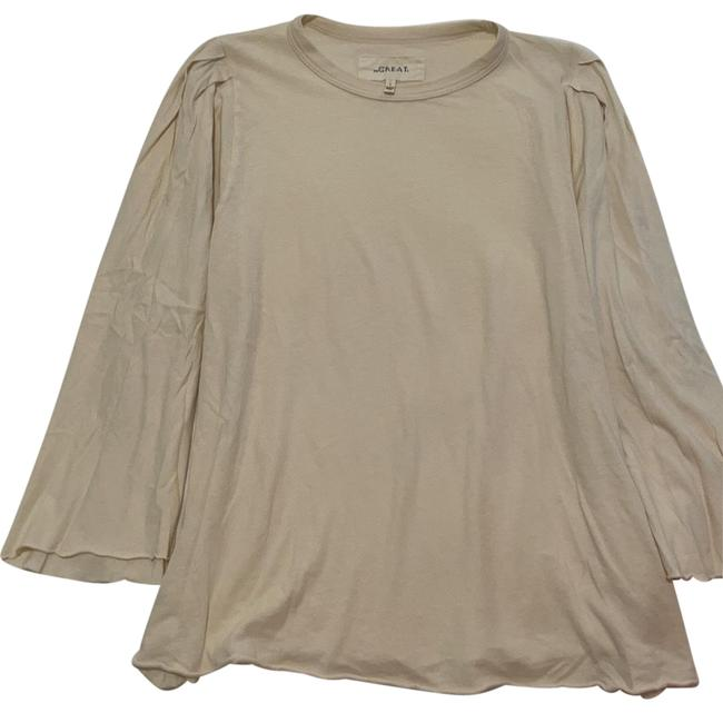 Item - Washed White Bell Sleeve Tee Shirt Size 4 (S)
