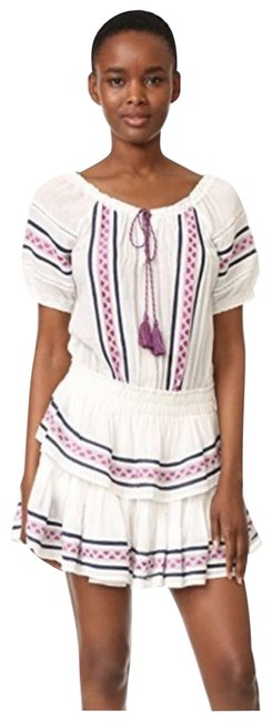 Item - White Love Shack Fancy Poppy Embroidered Short Casual Dress Size 12 (L)