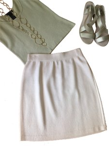 St. John Skirt Light beige or ivory