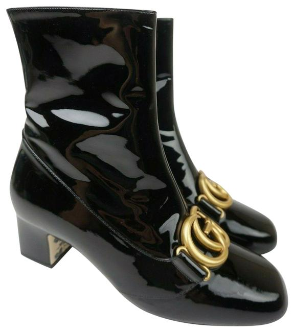 Item - Black Victoire Gg Patent Leather Ankle Women's Boots/Booties Size EU 37 (Approx. US 7) Regular (M, B)