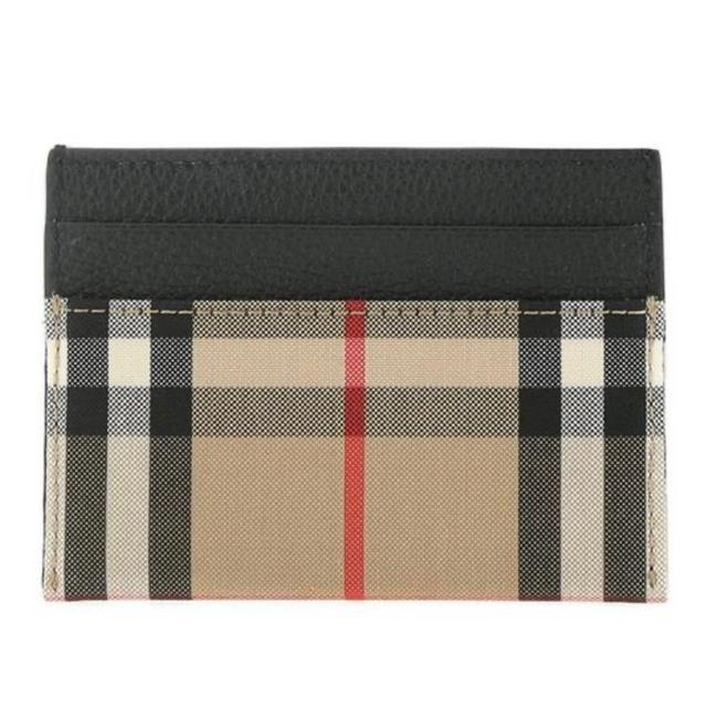 Item - Check Printed Leather Card Holder Wallet