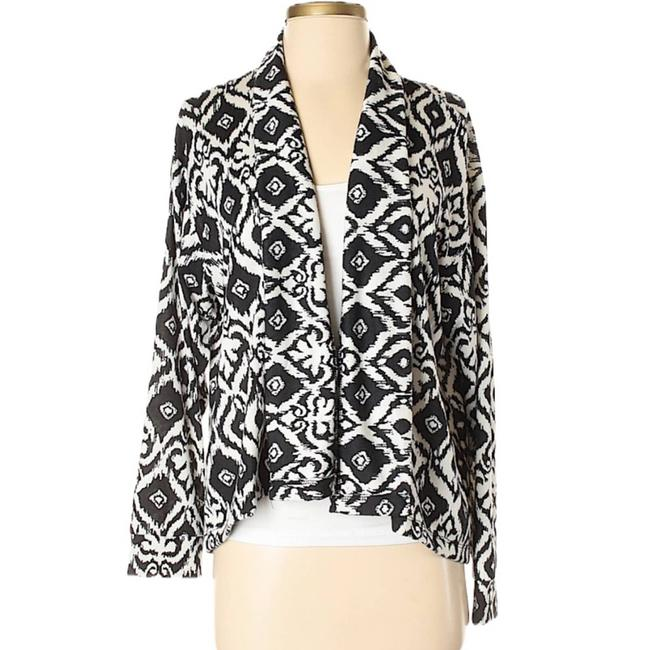 Item - White Cut + Sew By Golden Tote Open Front Ikat Cardigan Size 2 (XS)