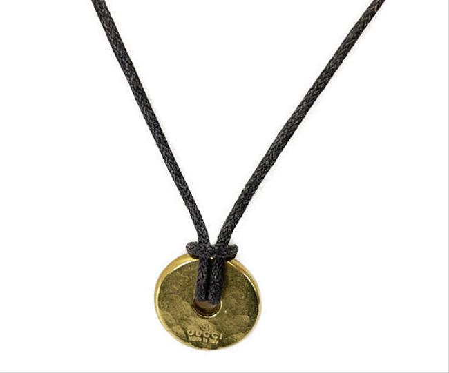 Item - K18 Leather Round Necklace