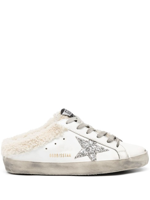 Item - White Superstar Shearling-lined Lace-up Trainers Sneakers Size EU 38 (Approx. US 8) Regular (M, B)