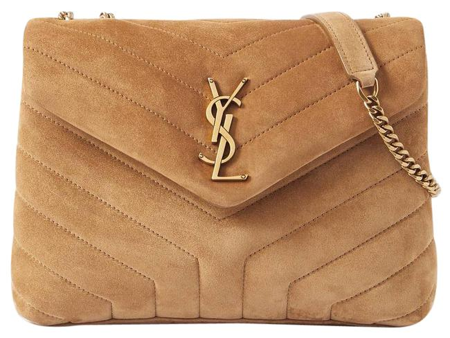 Item - Monogram Loulou Small Quilted Suede Brown Shoulder Bag