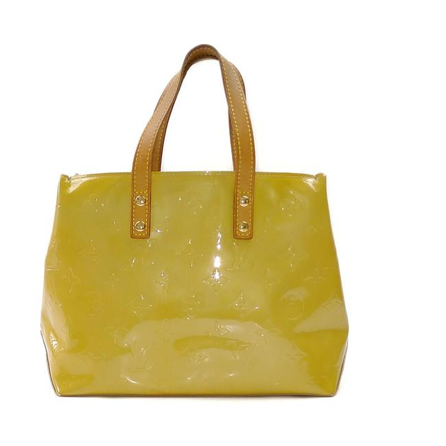 Item - Reade Lv Hand M91334 Pm Yellow Vernis Leather Tote