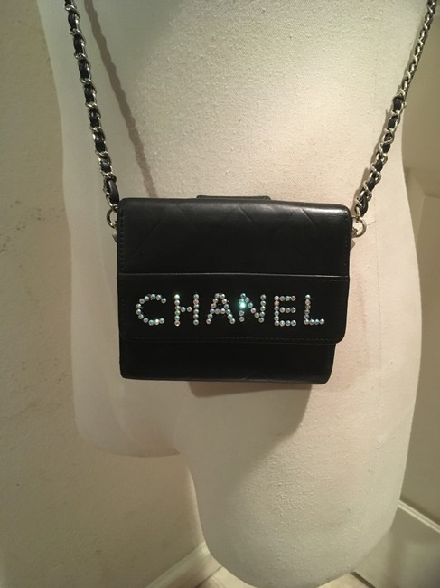 Item - Black Small Chocolate Bar Chain On Wallet