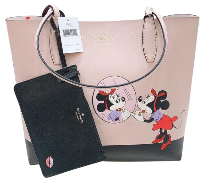 Item - Reversible Bag Minnie Mouse Disney with Wristlet Beige Leather Tote