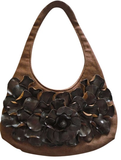 Paolo Masi Leather Linen Shoulder Bag