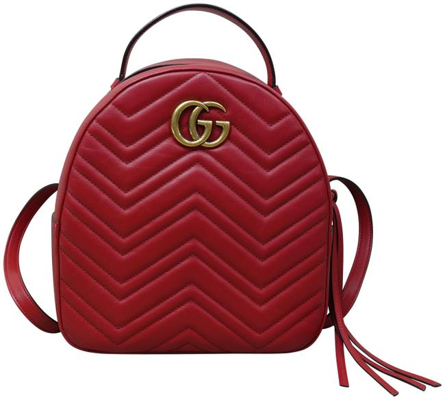 Item - Marmont Red Calfskin Backpack