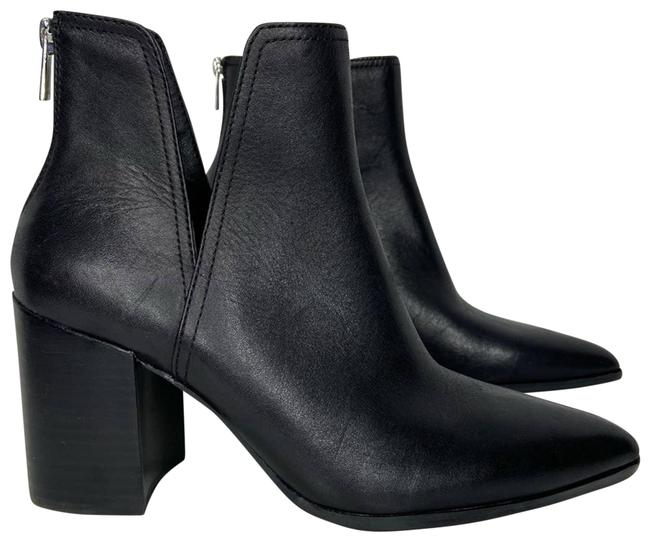 Item - Black New Leather Heel Ankle Boots/Booties Size US 9 Regular (M, B)