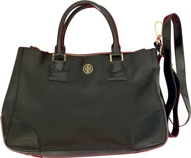 Item - Robinson Double Zip Black Leather Tote