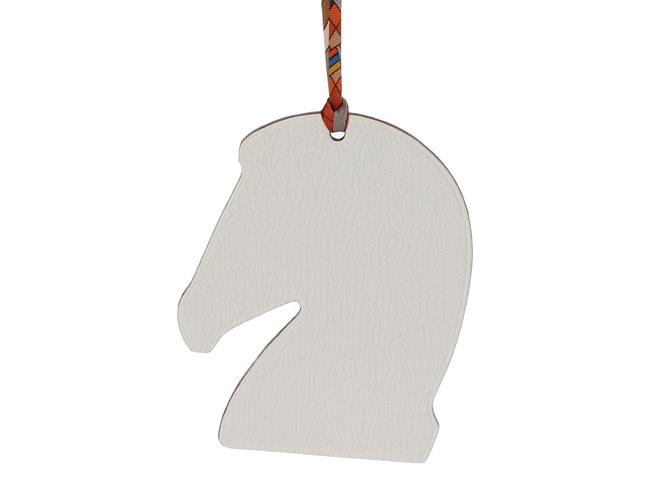 Item - Multicolor Two-tone Leather Samarcande Horse Bag Charm
