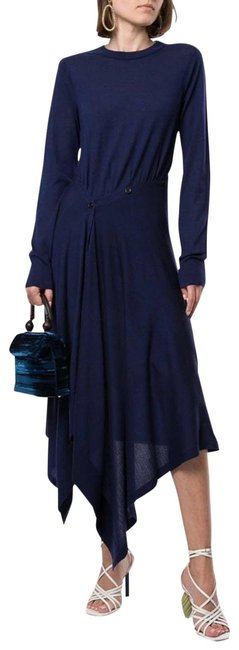 Item - Blue Charlotte Merino Sweater Small Mid-length Cocktail Dress Size 4 (S)