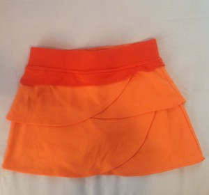 Bolle Orange Ruffled Skort