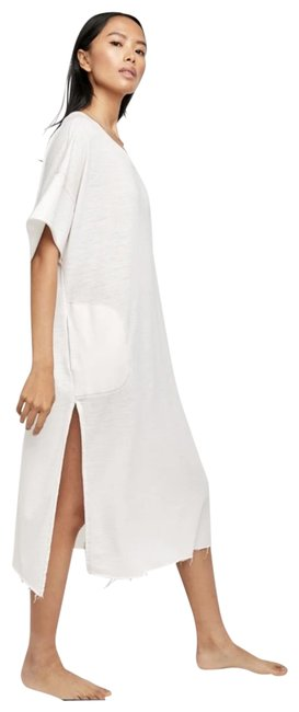 Item - White Girl Cozy Cool Tee Long Casual Maxi Dress Size 4 (S)