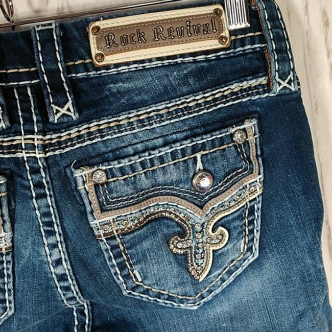 Item - Blue Distressed Betty Boot Cut Jeans Size 26 (2, XS)