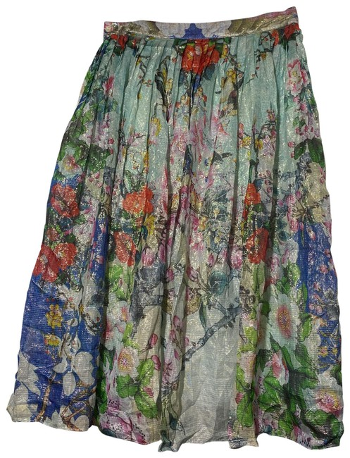 Item - Floral Multi Colored Jardin Shimmer Mid-length Night Out Dress Size 8 (M)