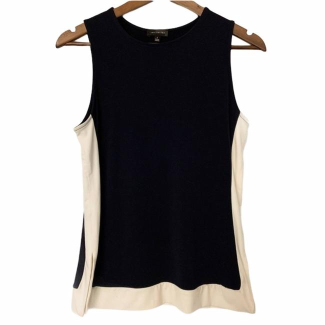 Item - White Sleeveless Navy and Small Blouse Size 6 (S)