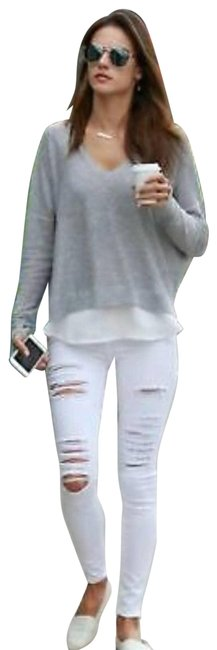 Item - White Distressed Le Skinny Jeans Size 29 (6, M)