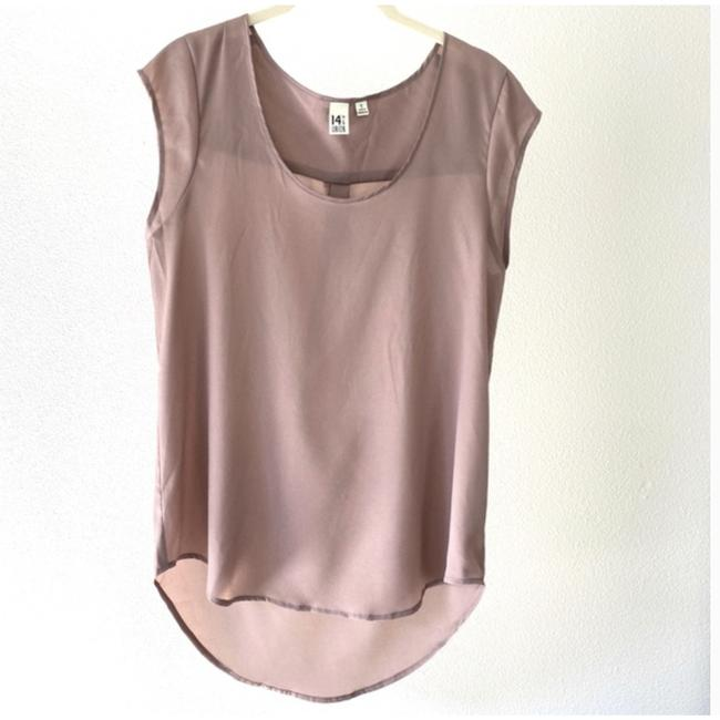 Item - Pink 14th & Union Mauve High Low Small S Blouse Size 4 (S)