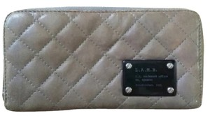 L.A.M.B. L.a.m.b Gray Quilted Zip Around Wallet