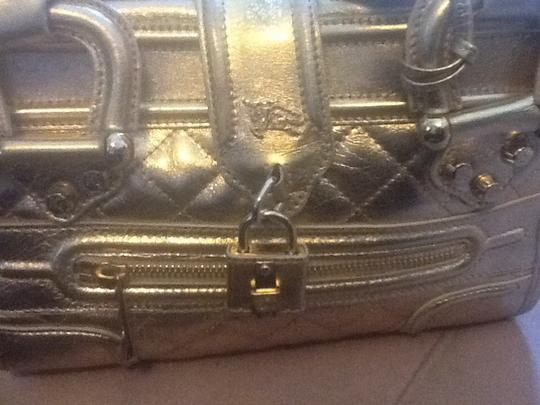 Burberry Satchel in Gold Metallic