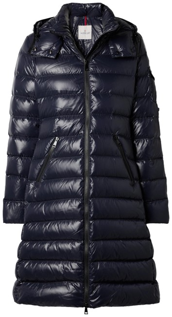 Item - Navy Moka Hooded Quilted Shell Down Coat Size 0 (XS)