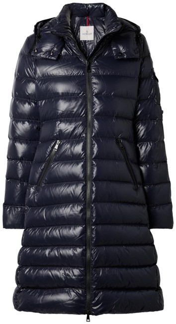 Item - Navy Moka Hooded Quilted Shell Down Coat Size 8 (M)