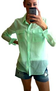 Gap Button Down Shirt Seafoam/ Mint Green