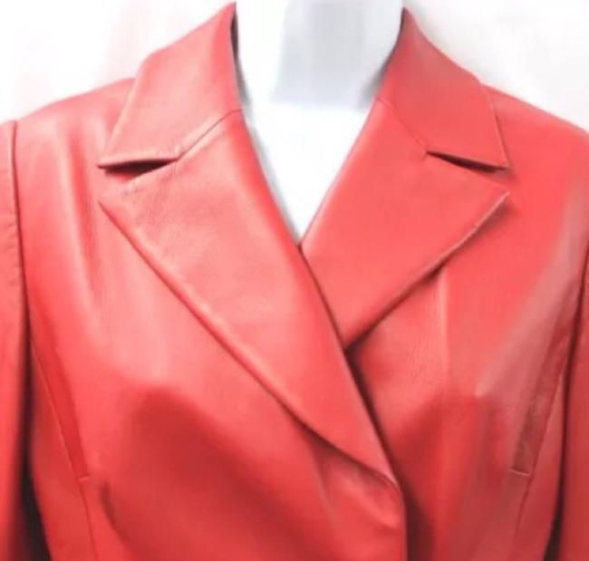 Badgley Mischka Leather RED Jacket