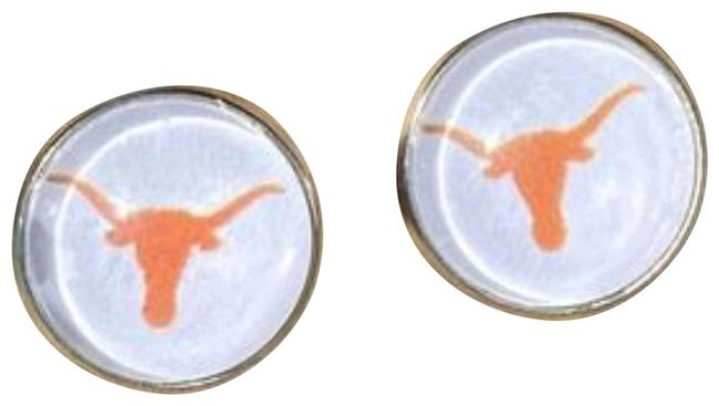 Item - Red Texas Cabochon Stud Earrings