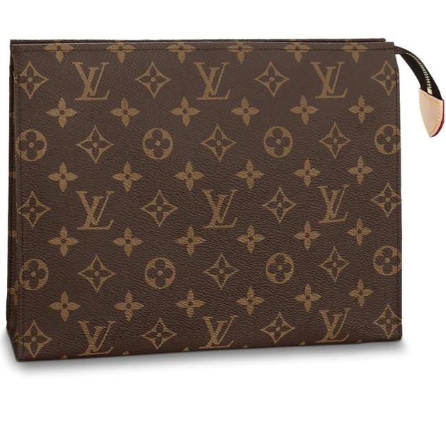 Item - Cosmetic Pouch Monogram Toiletry 26 Coated Canvas Clutch