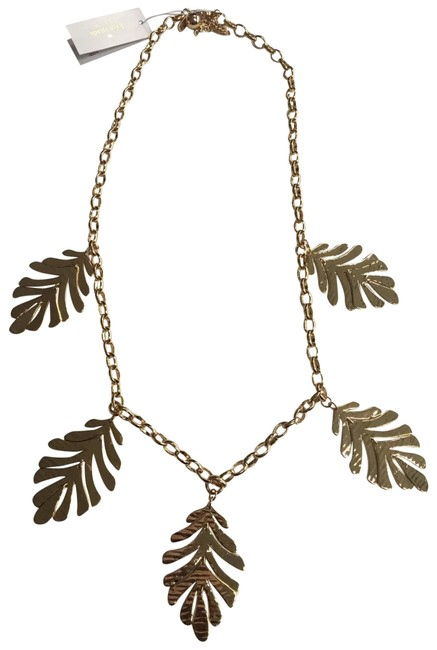 Item - Gold Leaf Collection Statement Necklace