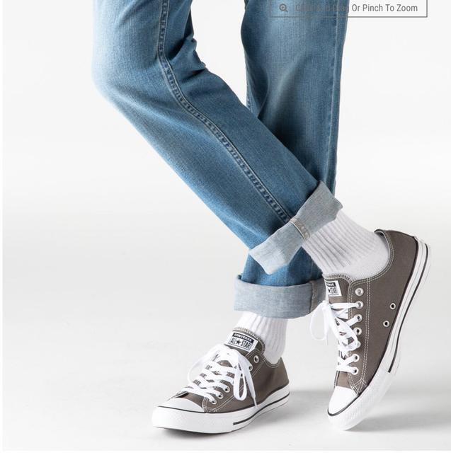 Item - Gray Chuck Taylor All Star Lo Sneakers Size US 8 Regular (M, B)
