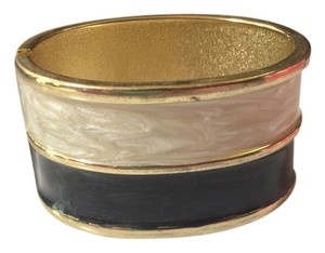 Other Black and White Colorblock Bangle Bracelet