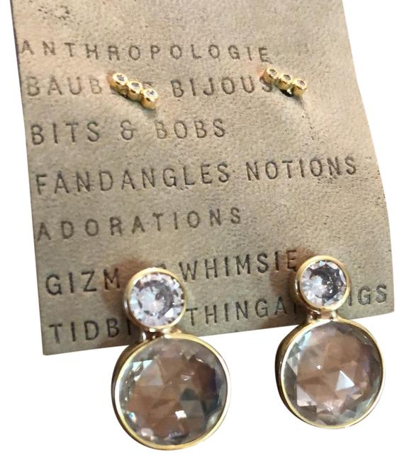 Item - Clear Round Crystal Post Earrings