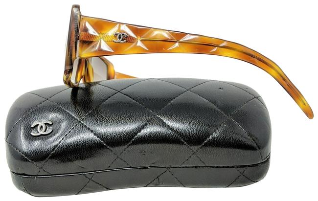 Item - Brown Quilted Tortoise Sunglasses