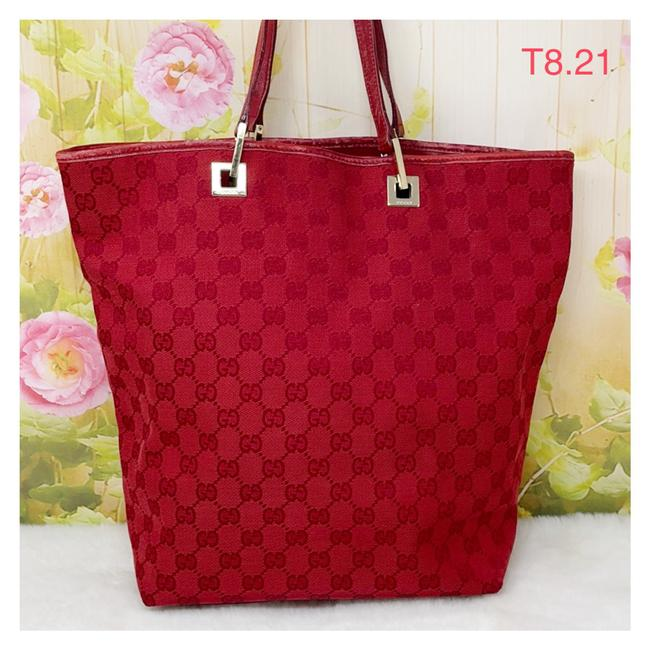 Item - Bag Red Canvas Tote