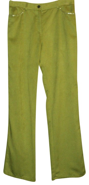 Item - Green Cotton Suede Studded Accents On Pockets Pants Size 6 (S, 28)