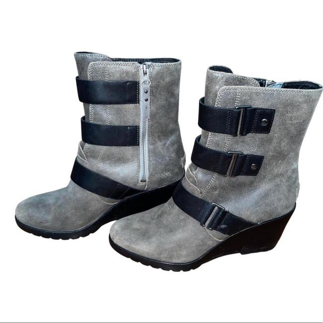 Item - Gray 3 Strap Leather Boots/Booties Size US 10 Regular (M, B)